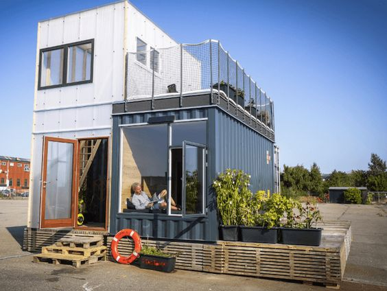 Habitat alternatif build green for Maison container maritime