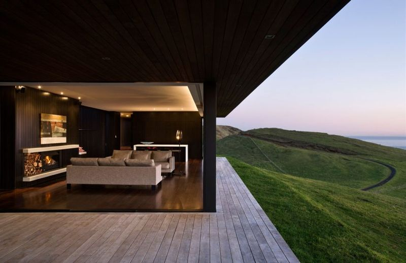Salon avec vue panoramique sur l'océan - Parihoa House par Pattersons - Muriwai, Nouvelle-Zelande