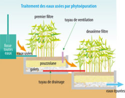 Un système simple de traitement des eaux usées