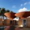 Une-toits concaves pour recuperer l'eau de pluie