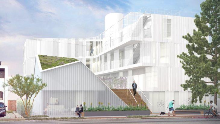 Une-Habitat groupé un exemple certifié Leed Platinum à Los Angeles