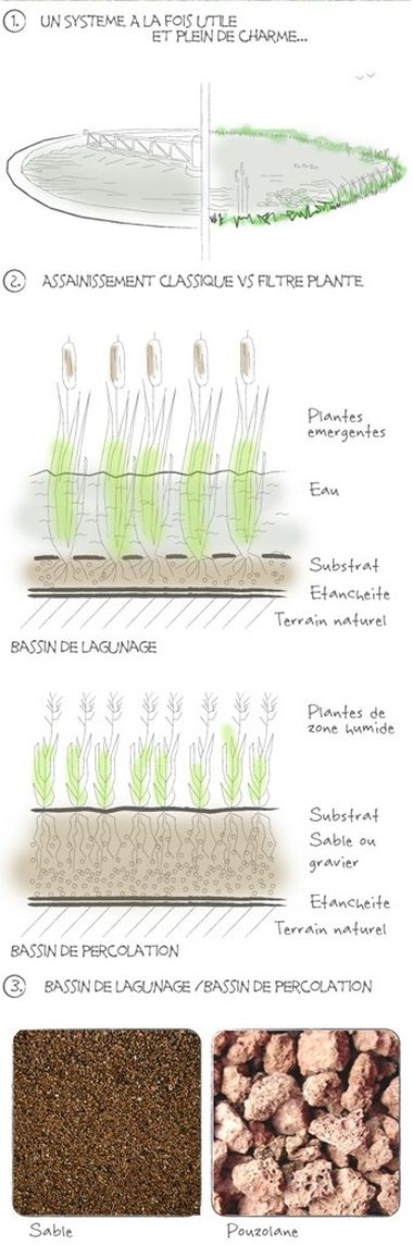 differents types de substrats pour un systeme phyto-epuration