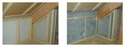 Exemple de ce qu'un vrac peut permettre, ici ouate de cellulose projetée humide