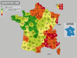 qualite de l'air de chaque departement en France 2013