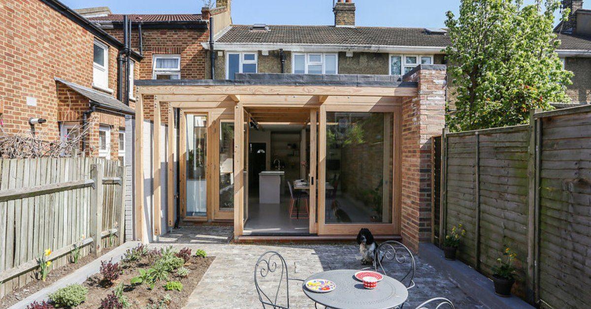 une extension bois pour tendre une petite maison urbaine anglaise build green. Black Bedroom Furniture Sets. Home Design Ideas