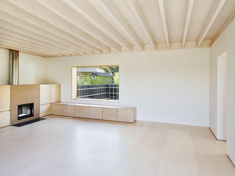 pièce de vie - Maison de Corsier par bunq architectes - Suisse