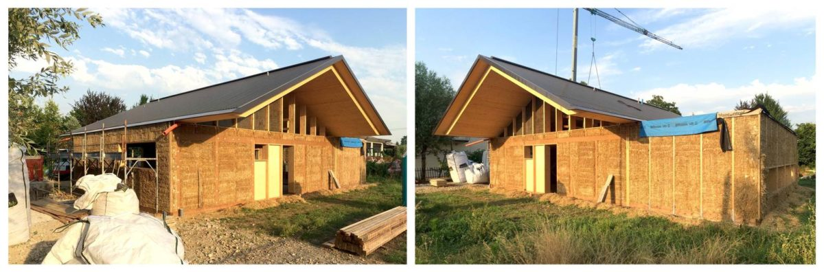 construction de la maison - SCL Maison isolée paille par Jimmi Pianezzola Architetto - Italie