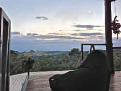 vue de la terrasse - Kin Kin Container House - Queensland - Australie