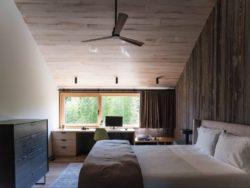 Chambre principale avec bureau - House-lane par Maziar-Behrooz-Architecture - Nouveau-Mexique - USA