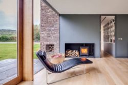 Coin repos & cheminée salon - The-Nook par Hall+Bednarczyk - Monmouthshire - Nouvelle-Zelande