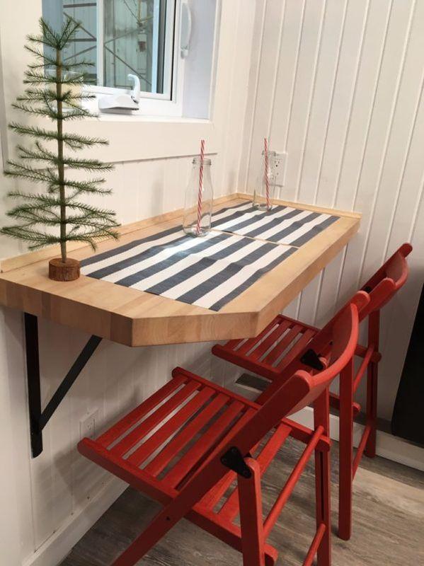 Espace salle à manger -Tiny house la Puce par Vivre en Mini - Québec, Canada