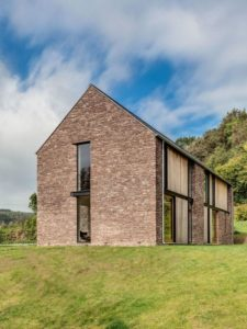 Façade murs en pierres - The-Nook par Hall+Bednarczyk - Monmouthshire - Nouvelle-Zelande