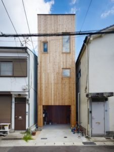 Façade principale- tiny-house par Fujiwaramuro-Architects - Kobe - Japon