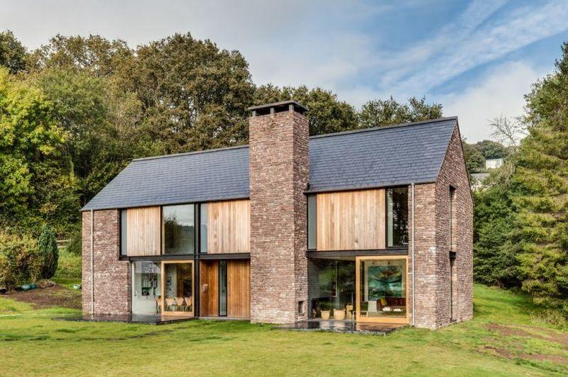 Façade principale & vue baies vitrées - The-Nook par Hall+Bednarczyk - Monmouthshire - Nouvelle-Zelande