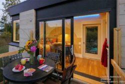 Petit terrasse salon design - Weel-Pad par LineSync Architecture - Vermont, USA