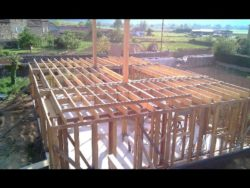 RDC ok - auto-construction maison paille Greb - Auvergne - France
