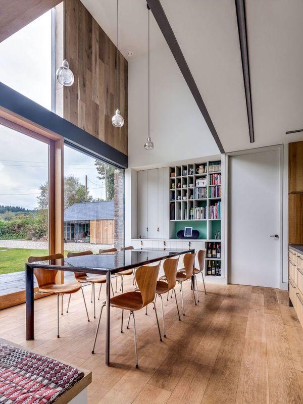 Séjour & bibliothèque - The-Nook par Hall+Bednarczyk - Monmouthshire - Nouvelle-Zelande