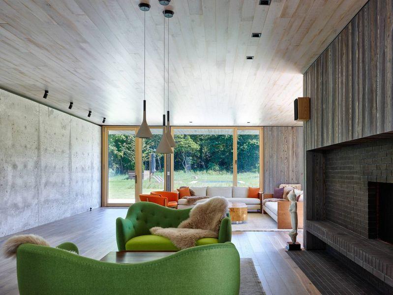 Salon & salle séjour - House-lane par Maziar-Behrooz-Architecture - Nouveau-Mexique - USA