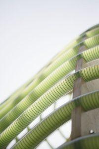 Tubes d'algues illuminés - Algue-dome par SPACE - Copenhague, Danemark