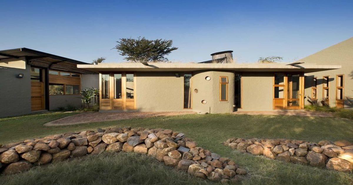 Terre pierre et bois pour une maison sud africaine qui pr serve son environnement build green - Maison s par domenack arquitectos ...