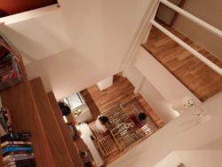 Vue aérienne salle séjour - tiny-house par Fujiwaramuro-Architects - Kobe - Japon