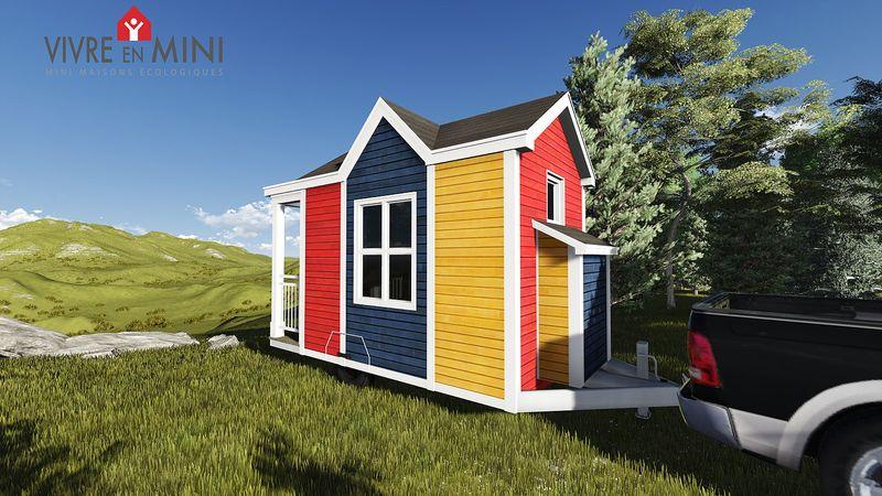 vue d'ensemble - Tiny house la Puce par Vivre en Mini - Québec, Canada