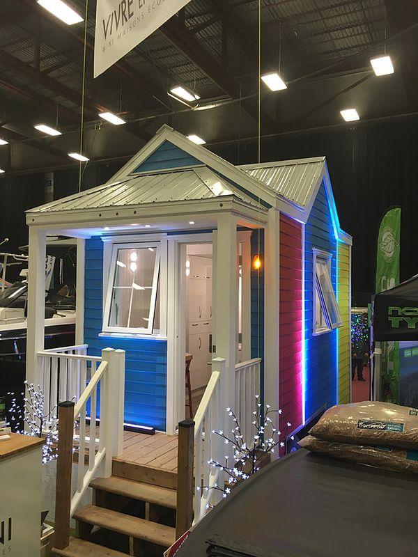 vue terrasse - Tiny house la Puce par Vivre en Mini - Québec, Canada