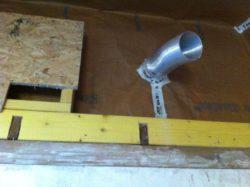 étanchéité gaine ventilation - chantier Claude Lefrançois - isolation comble aménageable - Puy de Dôme