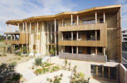 Bâtiment B façade sud avec jardin - Mascobado par Architecture & Environnement - Montpellier, France