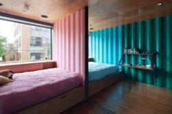 Chambre enfants & ouvertures vitrées - Carroll-House par studio-Lot-Ek - Brookyln, USA
