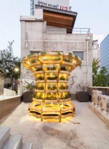 Jardin modulaire illuminé terrasse balcon - growmore par Husum-Lindholm - Seoul, Coree du Sud