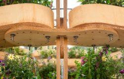 Lamelles en bois composantes jardin modulaire - growmore par Husum-Lindholm - Seoul, Coree du Sud
