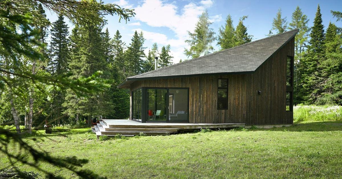 Une extension bois pour une maison de campagne canadienne ...