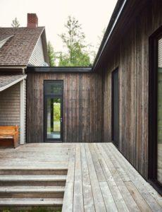 terrasse bois-Les soeurs par Anik Péloquin architecte - La Malbaie - Canada