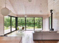 piece de vie-Les soeurs par Anik Péloquin architecte - La Malbaie - Canada