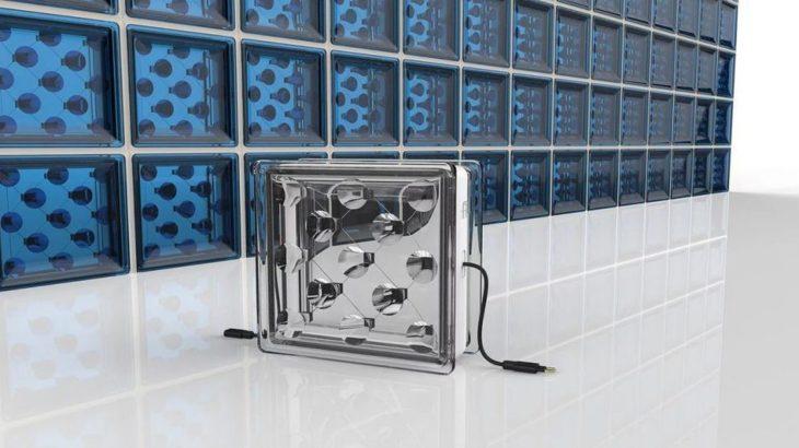 Solar Squared un bloc de verre qui genere de l'electricite