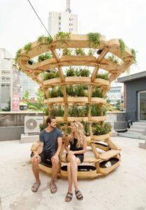 Structure jardin modulaire - growmore par Husum-Lindholm - Seoul, Coree du Sud