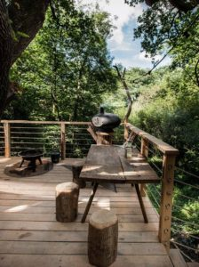 Terrasse en hauteur - Woodman-Treehouse par Mallinson-BEaM-studio - Angleterre