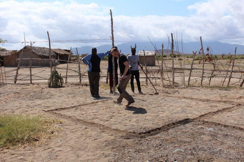 Traçage plan - Babus-house par C-re-a.i.d - Kilimandjaro, Tanzanie