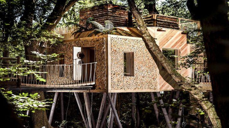 Une-Woodman-Treehouse par Mallinson-BEaM-studio - Angleterre
