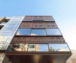 Vue panoramique façade containers - Carroll-House par studio-Lot-Ek - Brookyln, USA