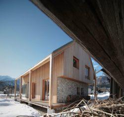 Vue principale - Alpine-hut par OFIS-arhitekti - Stara Fuzina, Slovenie