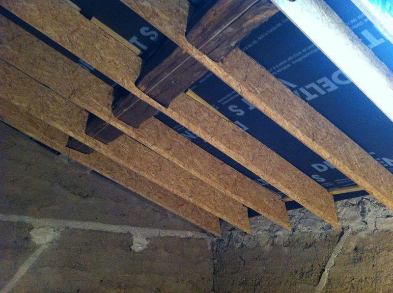bande de panneaux OSB - chantier Claude Lefrançois - isolation comble aménageable - Puy de Dôme