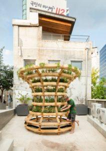 jardin modulaire terrasse balcon - growmore par Husum-Lindholm - Seoul, Coree du Sud