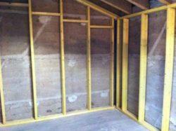préparation des murs - chantier Claude Lefrançois - isolation comble aménageable - Puy de Dôme