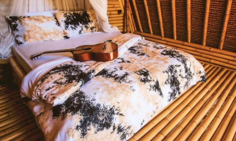 Chambre et intérieur en bambou - Hideout par Jarmil Lhotak - Alena Fibichova - Bali, Indonesie © Fibichova
