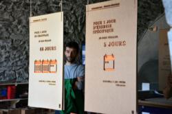 Equipe du LOWTECHTOUR à Grenoble pour présenter son exposition sur le kWh