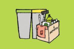 Je trie mes déchets et rapporte mes objets et produits usagés - En triant mes déchets et en rapportant mes objets usagés, je leur donne une nouvelle vie puisqu'ils seront recyclés