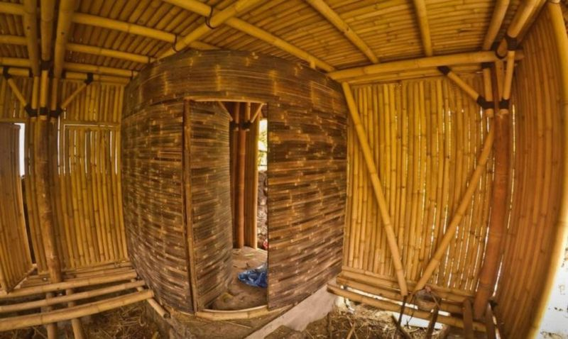 un refuge cologique enti rement en bambou bali build green. Black Bedroom Furniture Sets. Home Design Ideas