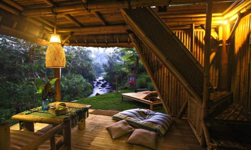 Terrasse salon design - Hideout par Jarmil Lhotak - Alena Fibichova - Bali, Indonesie © Fibichova
